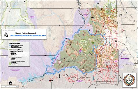 Map of Dine Bikeyah National Conservation Area