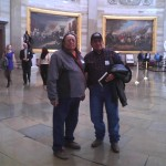 UDB Board Members Jonah Yellowman and Leonard Lee in the Nation's Capitol