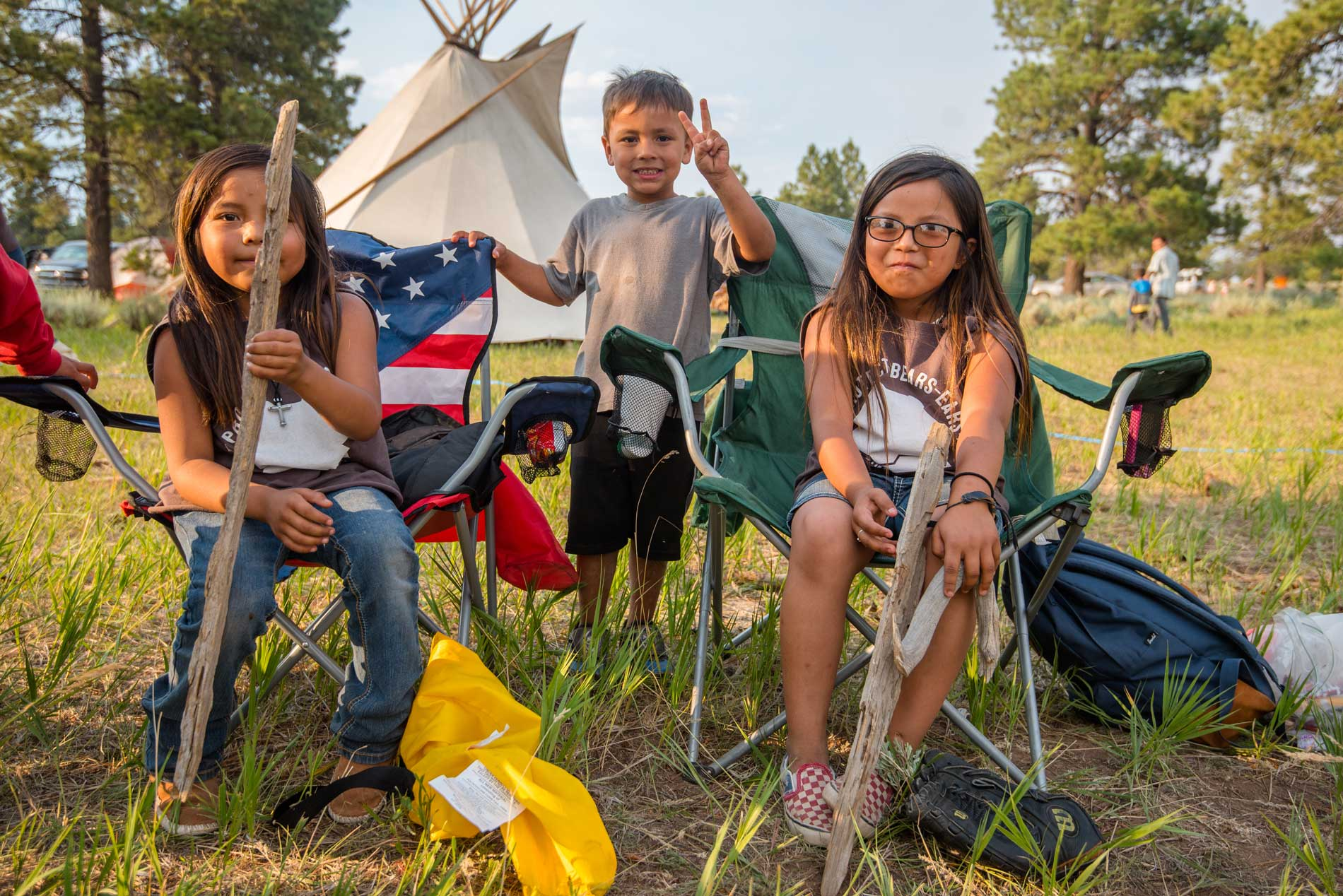 Kids at Bears Ears gathering. Photo by Blake McCord