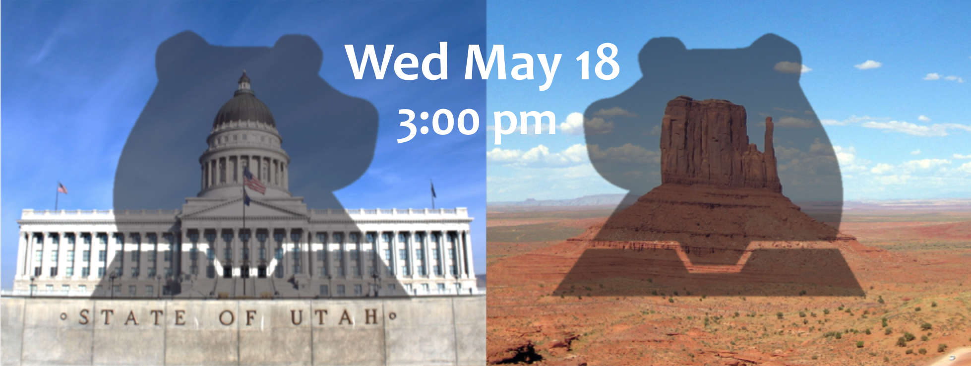 Utah state capitol Wednesday, May 18th at 3 pm